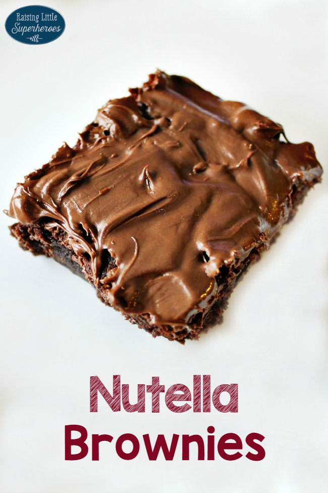 Nutella Brownies, Simple Dessert Recipes, Nutella Brownie Recipe, Brownie Recipe, Nutella Brownie