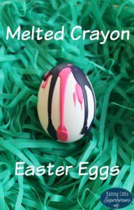 Melted Crayon Easter Egg