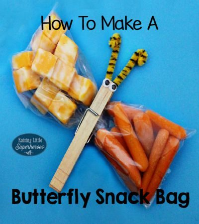 How To Make A Butterfly Snack Bag