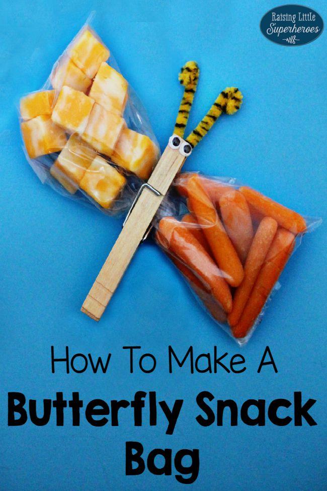 Butterfly Snack Bag, Butterfly Snack Bags, Butterfly Snack Bags Instructions, Butterfly Clothespin Snack Bag, Butterfly Snacks for Kids, How To Make A Butterfly Snack Bag, How To Make Butterfly Snack Bags,