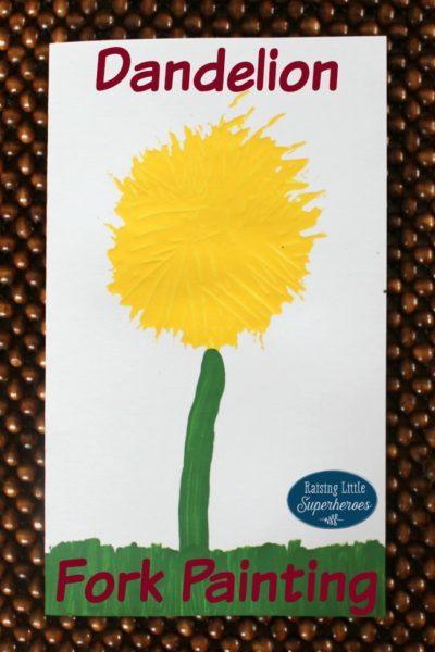 Dandelion Fork Painting