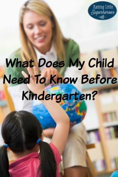 What Does My Child Need To Know Before Kindergarten?