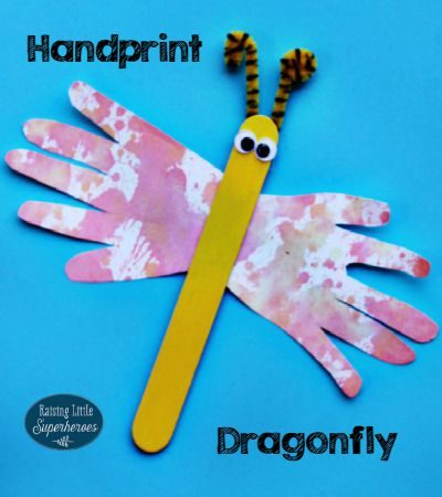 Handprint Dragonfly Craft
