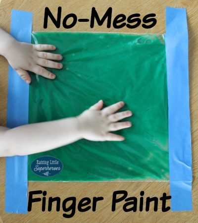 No-Mess Finger Paint Sensory Bag