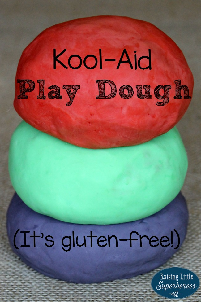 Kool Aid Play Dough, Play Dough, Sensory Activity, Tactile Sensory Activity, Activities for Kids, Homemade Play Dough, Gluten Free Play Dough