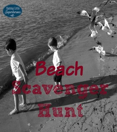 Family Fun Beach Scavenger Hunt and Activities