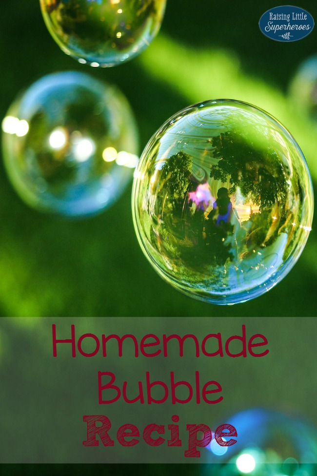 Homemade Bubble Recipe, Bubble Recipe, Activities for Kids, Outdoor Activities for Kids