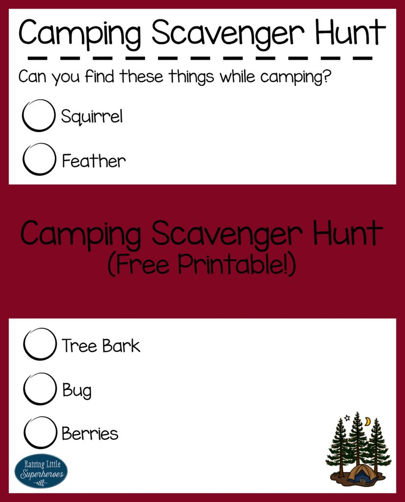 Camping Scavenger Hunt, Outdoor Activities for Kids, Activities for Kids, Outdoor Play Activities, Camping Activities for Kids