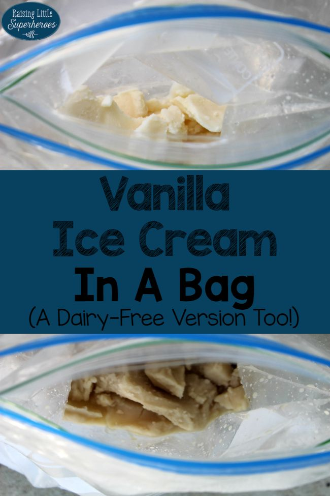 Vanilla Ice Cream In A Bag, Homemade Ice Cream, Ice Cream In A Bag, Activities for Kids, Dairy Free Vanilla Ice Cream In A Bag, Outdoor Activities