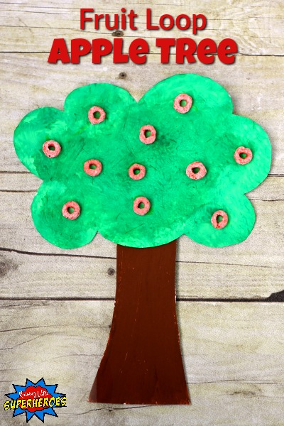 Fruit Loop Apple Tree, Fruit Loop Apple Tree Craft, Apple Tree Craft, Crafts for Kids, Fall Crafts, Fall Crafts for Kids, Toddler Crafts, Crafts for Toddlers