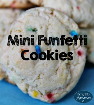 Mini Funfetti Cookies