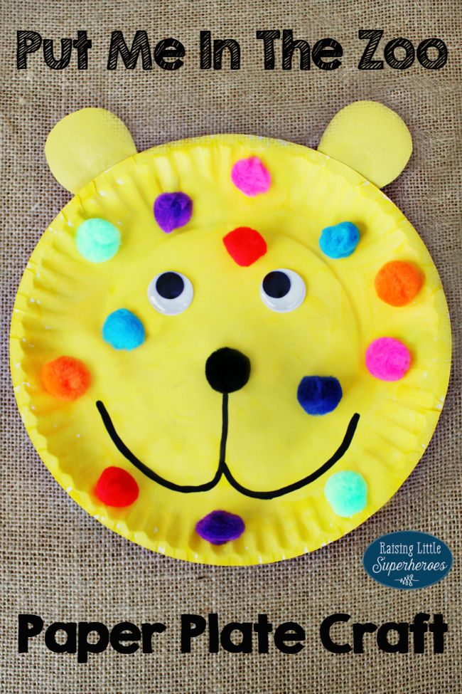 How to make a put me in the zoo paper plate craft for The paint brush kid comprehension questions
