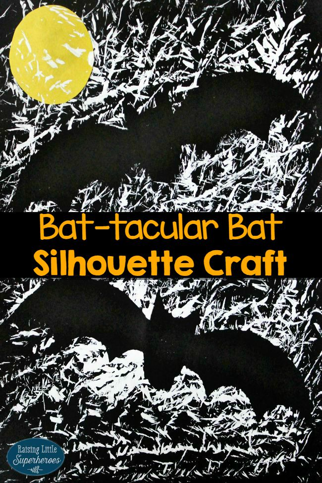 Bat Silhouette Craft, Bat Silhouette Craft for Kids, Craft for Kids, Halloween Crafts for Kids, Halloween Crafts