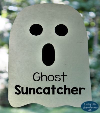 Spooktacular Ghost Suncatcher Craft for Kids