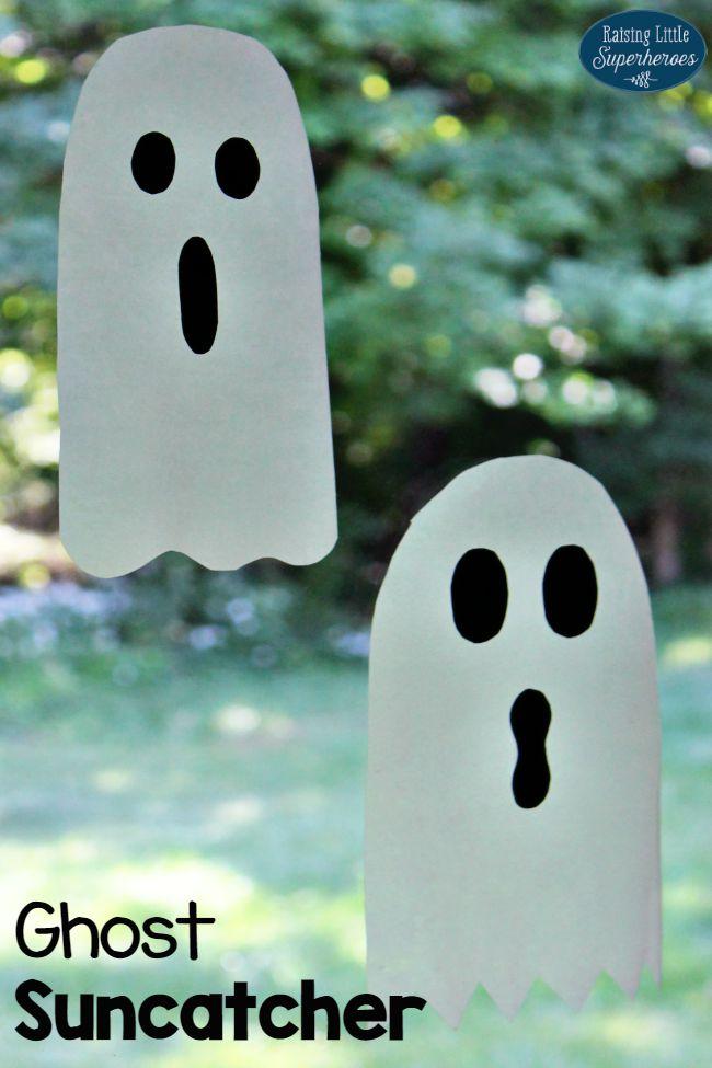 Ghost Suncatcher Craft, Suncatcher Craft, Ghost Craft, Ghost Suncatcher, Crafts for Kids