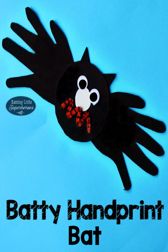 Handprint Bat Craft, Handprint Bat Craft for Kids, Handprint Crafts, Crafts for Kids, Handprint Crafts for Kids, Halloween Crafts for Kids