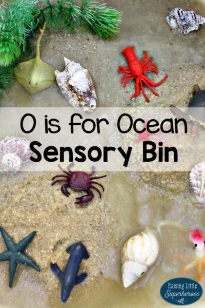 O is for Ocean Sensory Bin