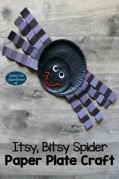 How To Make An Itsy, Bitsy Spider Paper Plate Craft for Kids