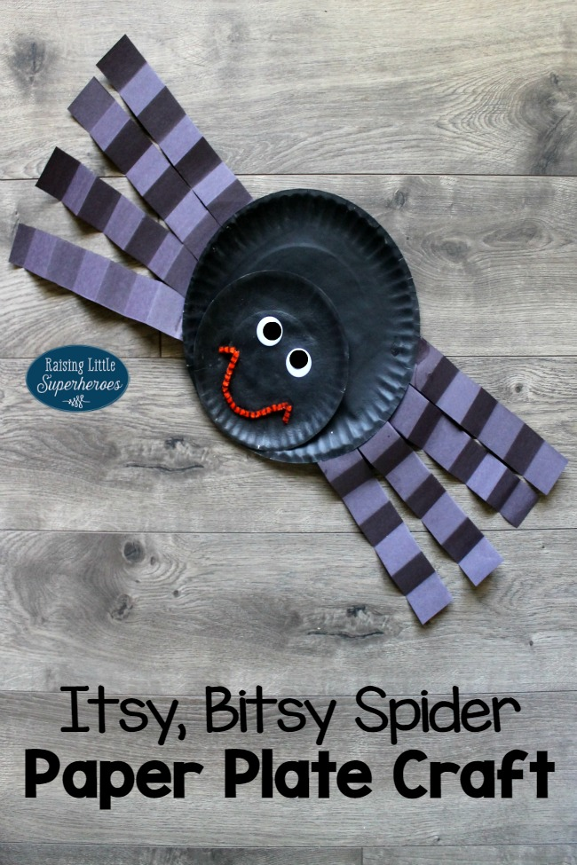 Spider Paper Plate Craft, Spider Craft, Paper Plate Craft, Crafts for Kids, Halloween Crafts for Kids