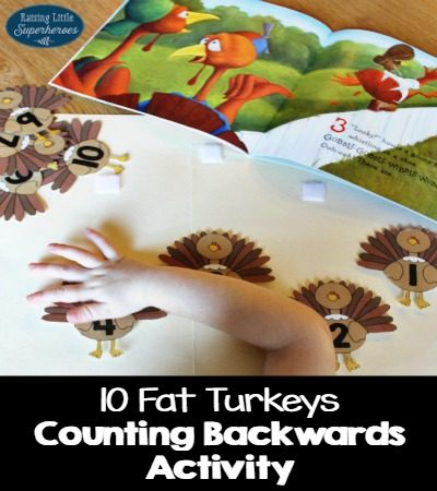 10 Fat Turkeys Counting Backwards Activity