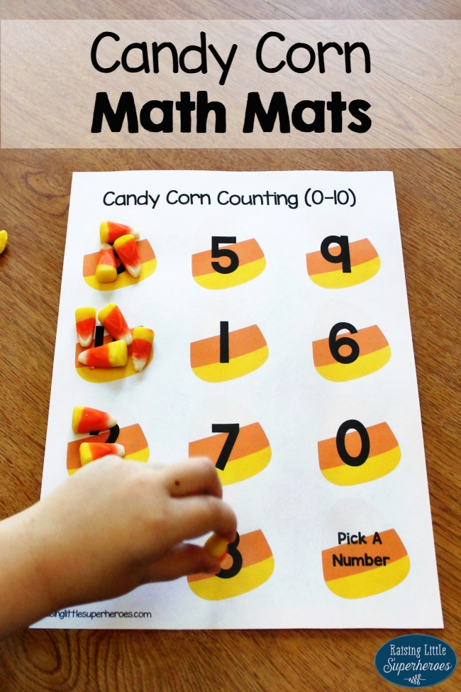 math worksheet : count and add with candy corn math mats  : Candy Corn Math Worksheets