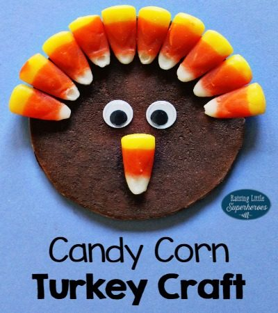 Candy Corn Turkey Craft for Kids