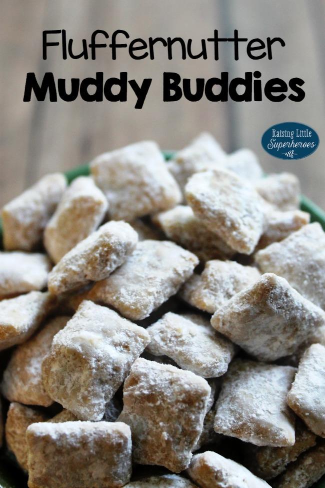 Fluffernutter Muddy Buddies, Fluffernutter, Muddy Buddies, Snacks for Kids