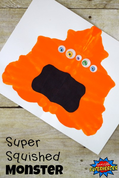 Squished Monster Craft, Monster Craft, Halloween Crafts for Kids, Crafts for Kids