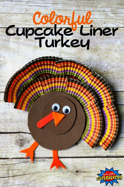 Cupcake Liner Turkey Craft, Cupcake Liner Turkey, Turkey Craft, Cupcake Liner Craft, Thanksgiving Craft