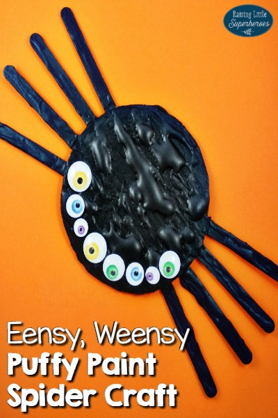 How To Make An Eensy, Weensy Puffy Paint Spider Craft
