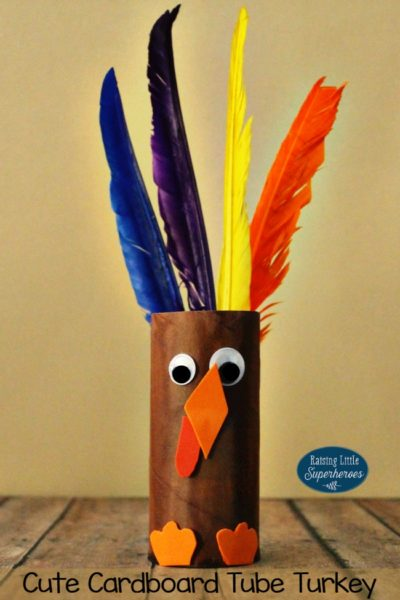 How To Make A Cute Cardboard Tube Turkey Craft