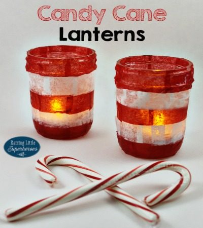 How To Make Candy Cane Lanterns