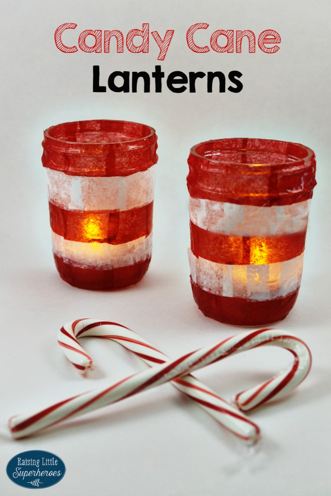 Candy Cane Lanterns, Crafts For Kids, Christmas Crafts for Kids, Christmas Crafts