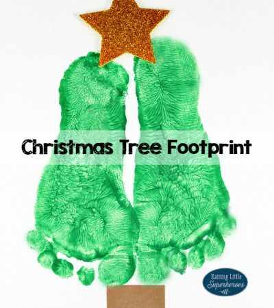 Christmas Tree Footprint Craft and Keepsake