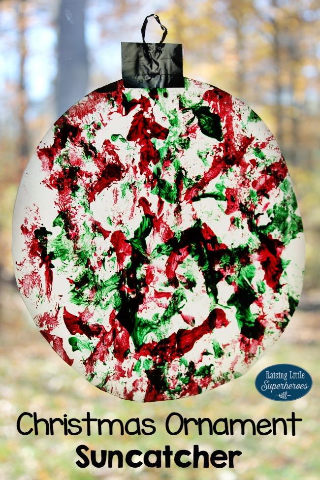 Christmas Ornament Suncatcher, Ornament Suncatcher, Christmas Suncatcher, Christmas Crafts for Kids, Holiday Crafts for Kids, Ornaments, Crafts for Kids, Visual Sensory Activity