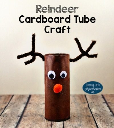 Rudolph the Red-Nosed Reindeer Cardboard Tube Craft
