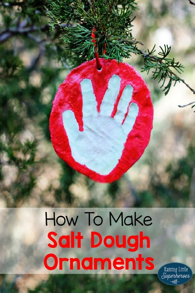 Salt Dough Ornaments, How To Make Salt Dough Ornaments, Salt Dough Ornament Recipe, Crafts for Kids, Holiday Crafts for Kids, Christmas Crafts for Kids