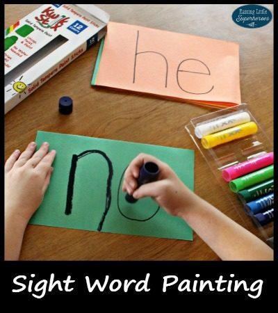 Sight Word Painting {Kwik Stix Giveaway}