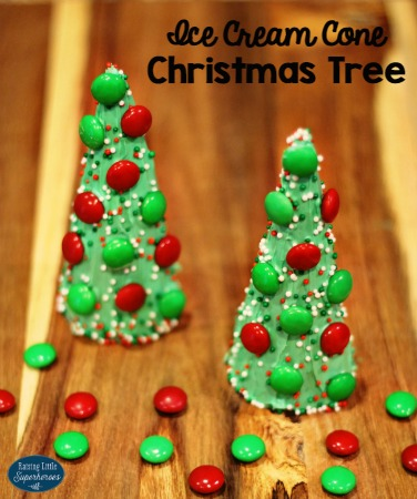 Ice Cream Cone Christmas Tree Treats
