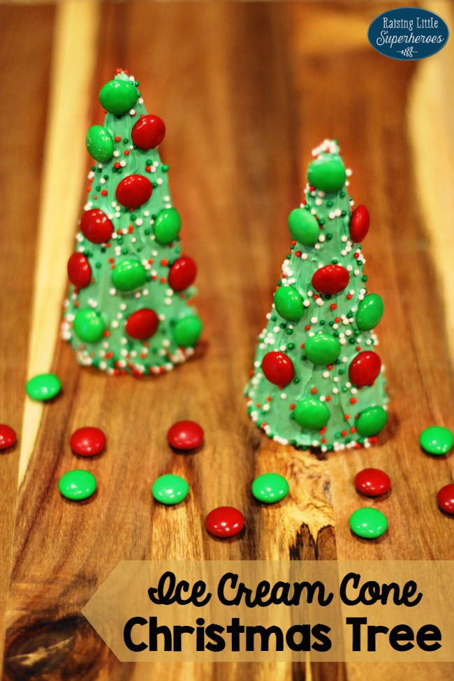 Ice Cream Cone Christmas Tree, Christmas Tree Ice Cream Cone, Snacks for Kids, Activities for Kids, Christmas Activities for Kids