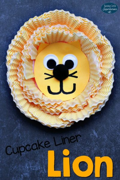 Roarin' Cupcake Liner Lion Craft for Kids