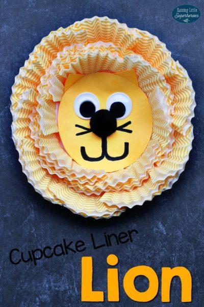 Roarin' Cupcake Liner Lion Craft for Kids
