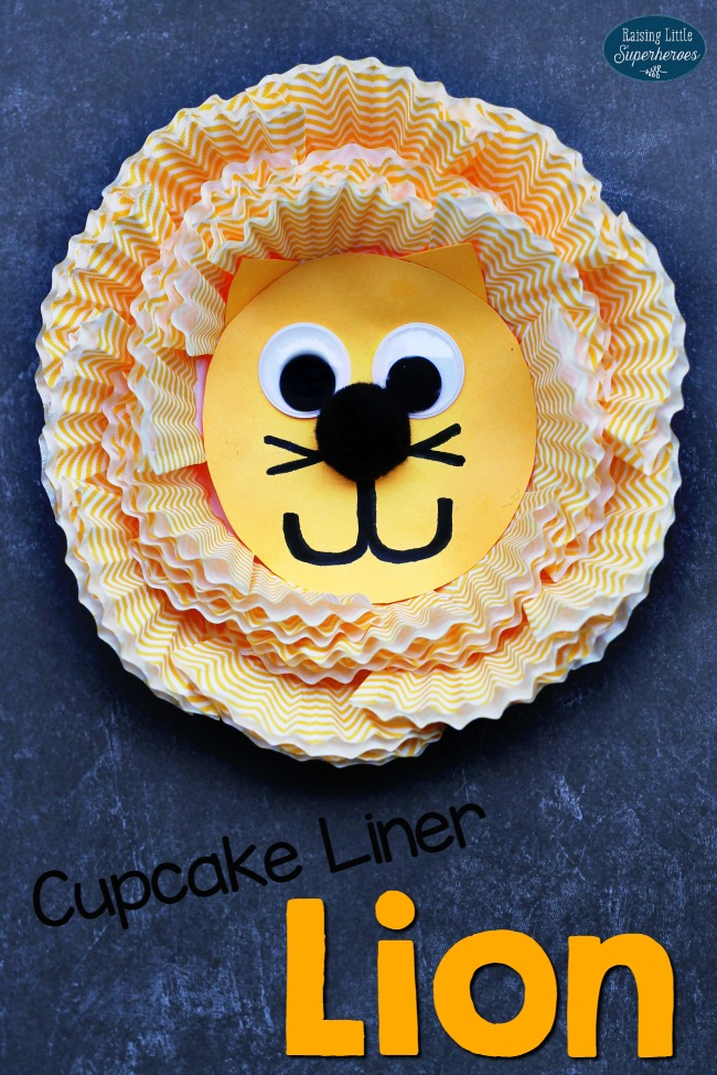 Cupcake Liner Lion Craft, Crafts for Kids, Animal Crafts for Kids, Cupcake Liner Crafts for Kids