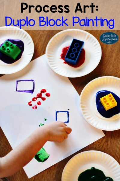 How To Create A LEGO Duplo Block Painting