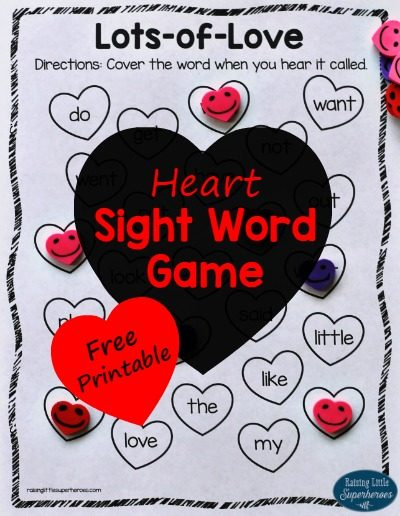 Lots-of-Love Heart Sight Word Game