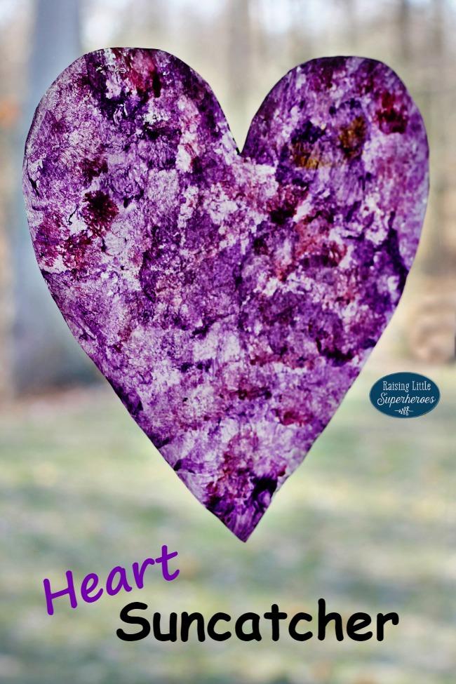 Heart Suncatcher, Valentine's Day Craft for Kids, Crafts for Kids, Holiday Crafts for Kids