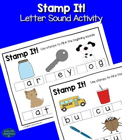 Stamp It Letter Sound Activity for Kids