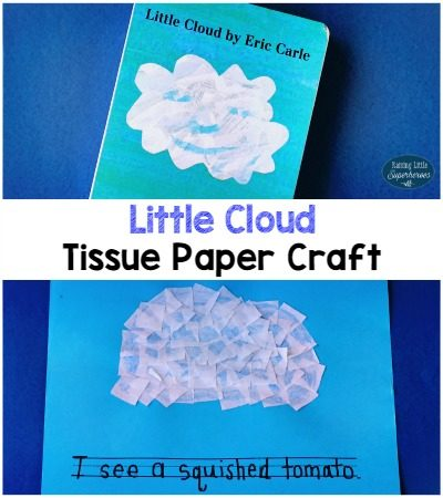 Little Cloud Tissue Paper Craft for Kids