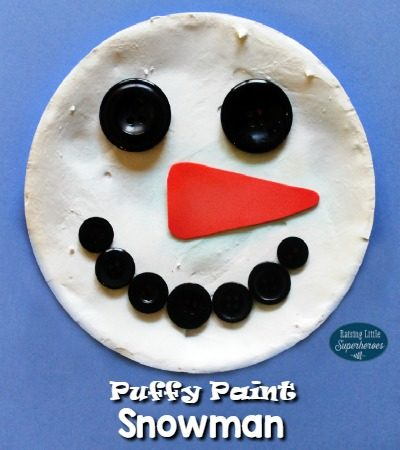 How To Make A Puffy Paint Snowman