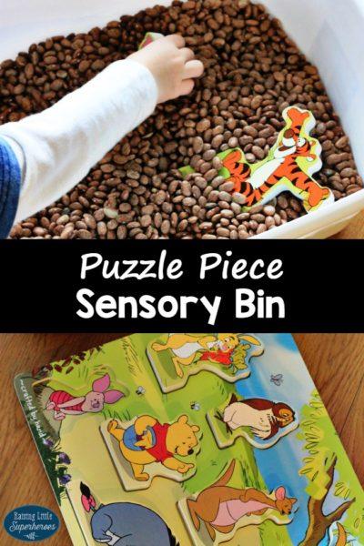 Winnie the Pooh Puzzle Sensory Bin